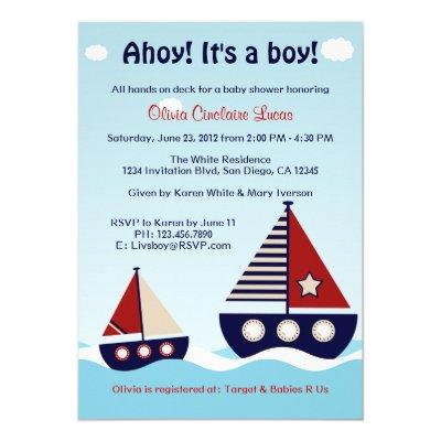 Nautical Sailboat Baby Boy