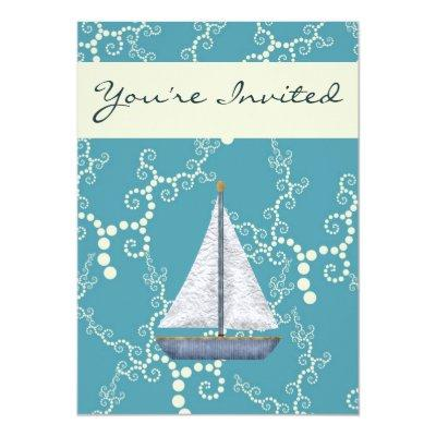 Nautical Sailboat Invites for Boys