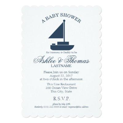 Nautical Sailboat Shower Invitations