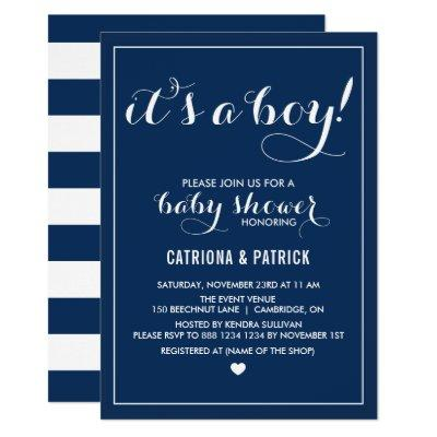 Navy Blue It's a Boy Script
