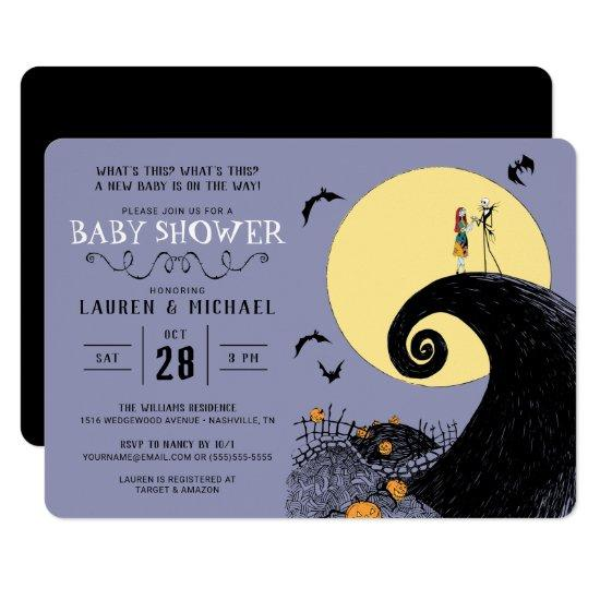 Nightmare Before Christmas Baby Shower Invitation