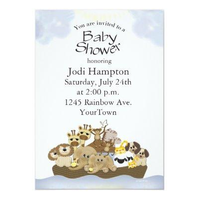 Noah Ark Invitations