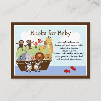 Noah's Ark Animals Baby Book Request Inserts