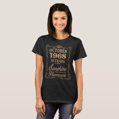 october 1968 birthday t-shirts