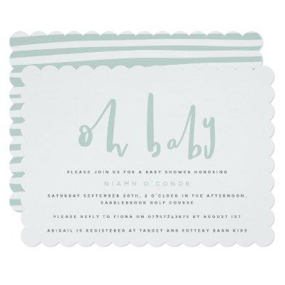 Oh baby, baby shower party Invitations