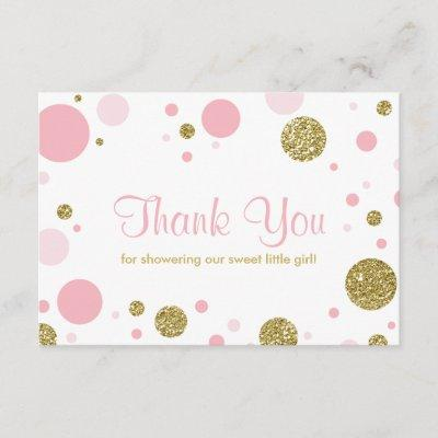 Oh Baby Girl, Thank You Invitations, Faux Glitter