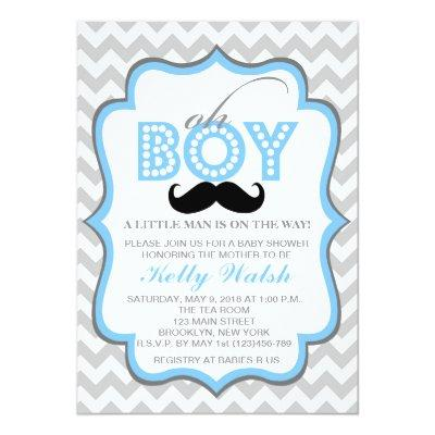 boy oh boy baby shower baby shower invitations | baby shower, Baby shower invitations