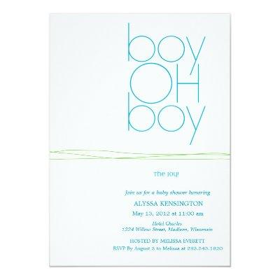 Oh Boy Custom Baby Shower Invitation