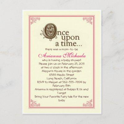 Once upon a time... Baby Shower Invitation
