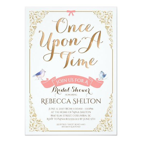 Once Upon A Time Invite Bridal Birthday Baby Baby Shower Invitations