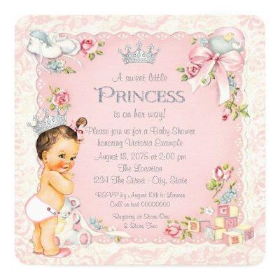 once upon a time little princess invitations