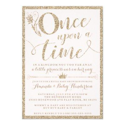 Once Upon A Time Princess Baby Shower Invitations