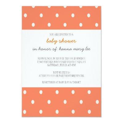 Orange Polka Dot Invitations