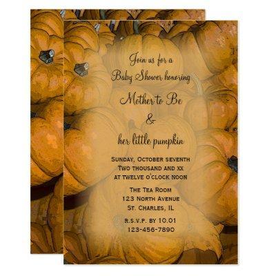Orange Pumpkins Baby Shower Invitation