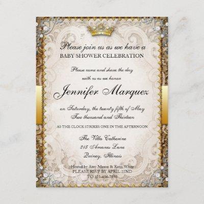 Ornate Fairytale Storybook Baby Shower Invitation