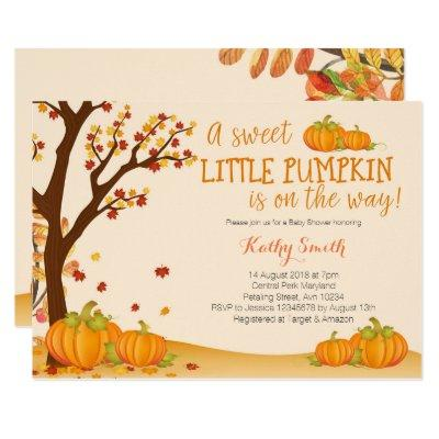 Our Little Pumpkin BABY SHOWER Invitations