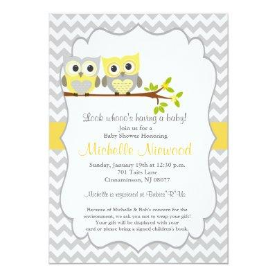 Owl Invitations