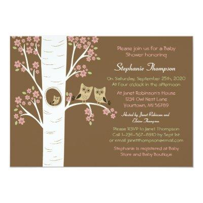 Owl Nest in a Spring Tree Invitation
