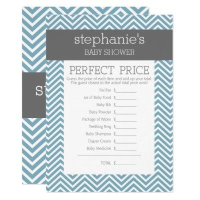 Pastel Blue Baby Shower Game - Perfect Price Invitations