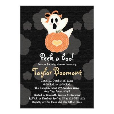 Peek a Boo Ghost Invitations