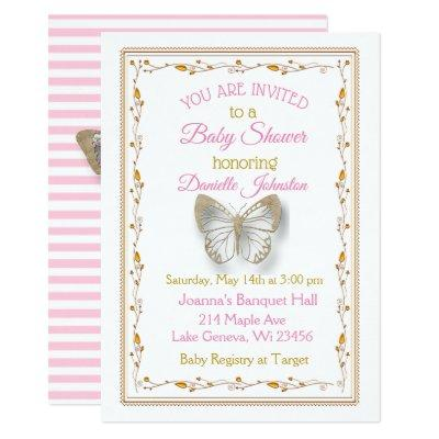 Personalized Baby Girl Butterfly
