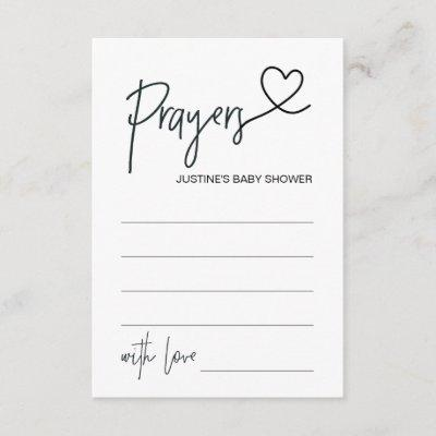 Personalized Baby Shower Prayer Card with Heart
