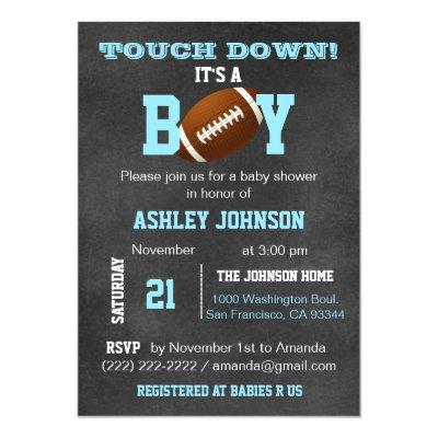 Personalized Chalkboard Football Theme