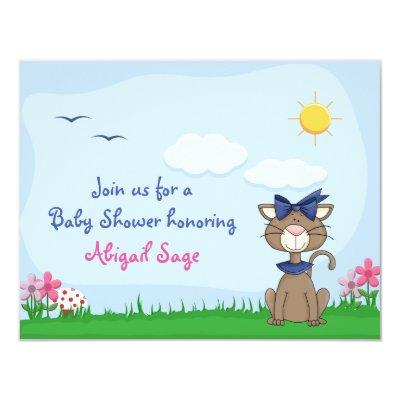 Personalized Cute Kitty Cat