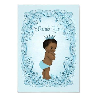 Personalized Ethnic Prince Thank You Invitations