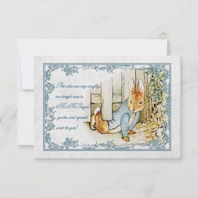 Peter Rabbit 08 Postcard Add your text