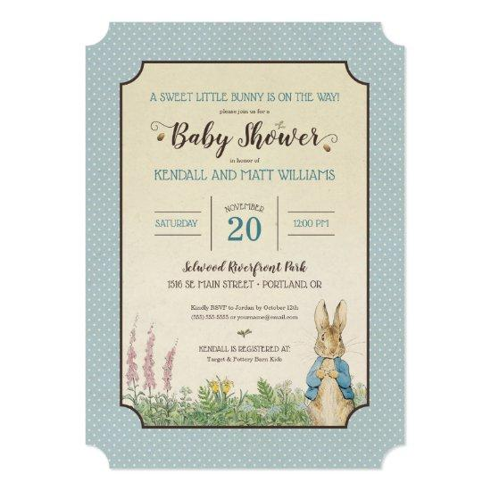 Peter Rabbit | Boy Baby Shower Card
