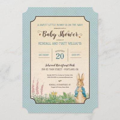 Peter Rabbit | Boy Baby Shower Invitation