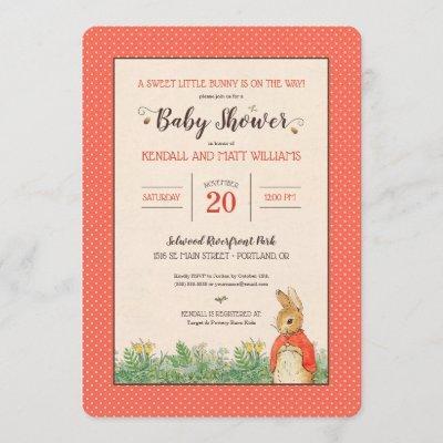 Peter Rabbit - Flopsy | Girl Baby Shower Invitation