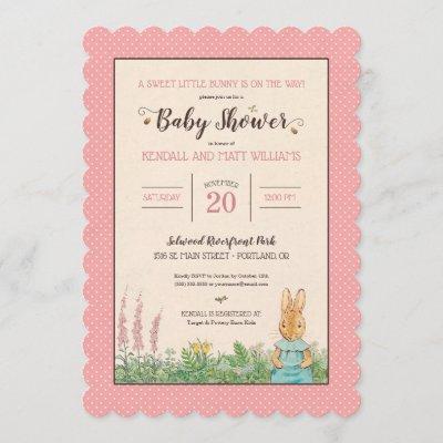Peter Rabbit | Girl Baby Shower Invitation