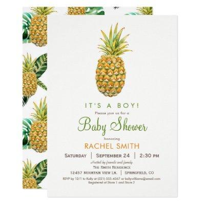Pineapple Baby Shower Invitation