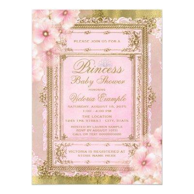 Pink and Gold Foil Princess