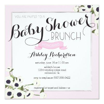 Pink Brunch Invitations