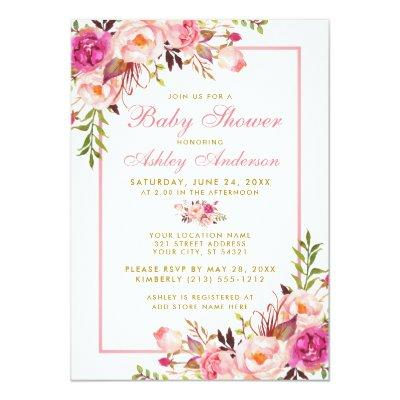 Pink Blush Gold Floral  PS