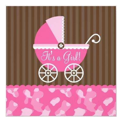 Pink Brown Carriage Camo Girl