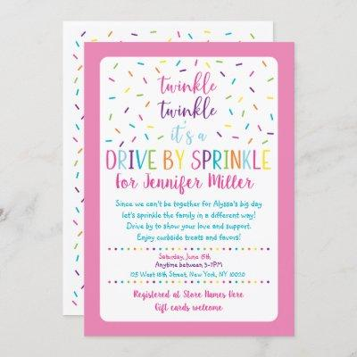 Pink Drive By Baby Sprinkle Invitation
