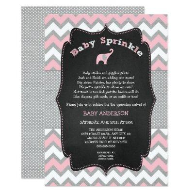 Pink elephant baby sprinkle,