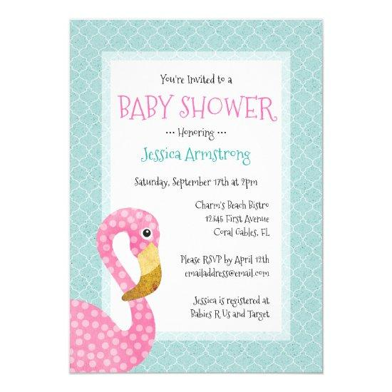 pink flamingo invitations