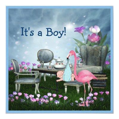 Pink Flamingo Wonderland Tea Party Boy