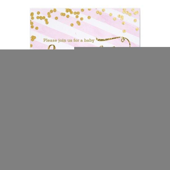 Pink Girl Baby Sprinkle Shower Invitations