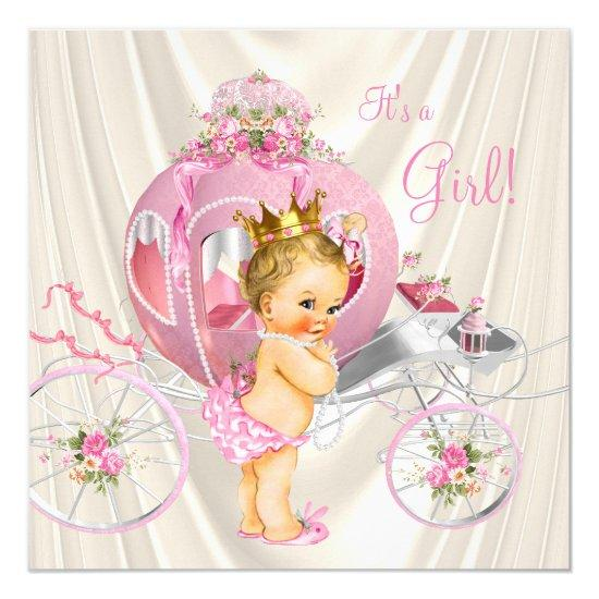pearls gold girl baby shower baby shower invitations | baby shower, Baby shower invitations