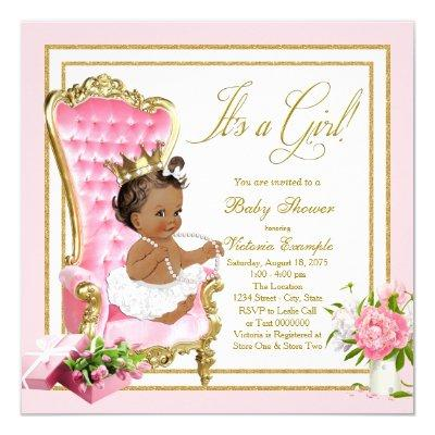 Pink Gold Chair Ethnic Princess Pearl
