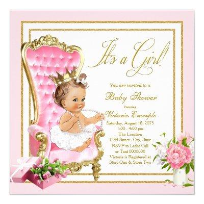 Pink Gold Chair Princess Pearl Tutu