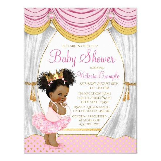 a3c4ec7c0 Pink Gold Ethnic Princess Baby Shower Invitations | Baby Shower ...