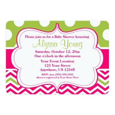 Lime Green Baby Shower Invitations Baby Shower Invitations | Baby ...