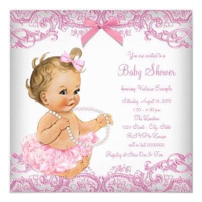 Pink Lace Tutu Girl